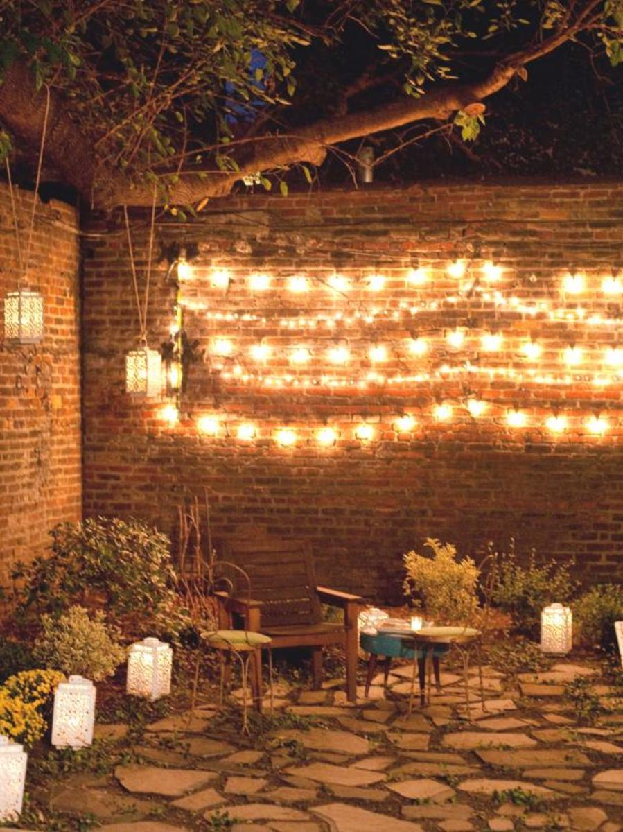 Cheap string lights are fine for special occasions but they're not really designed for landscape lighting.