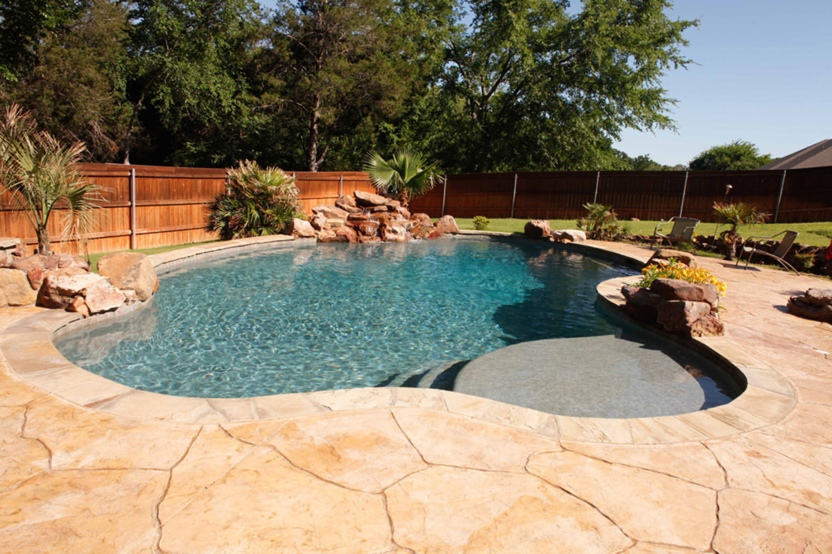 Freeform shapes are distinctive from traditional pool shapes.