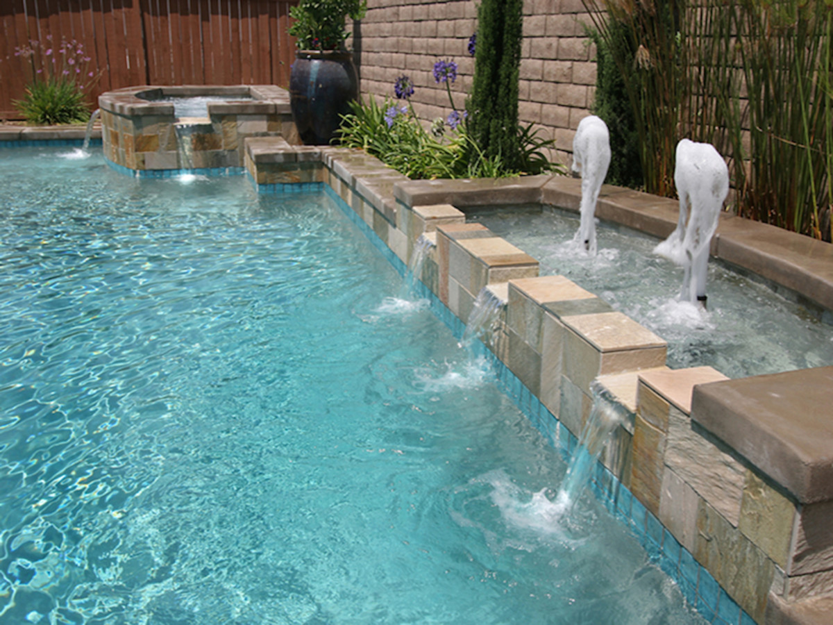 You can incorporate multiple water features within your pool.