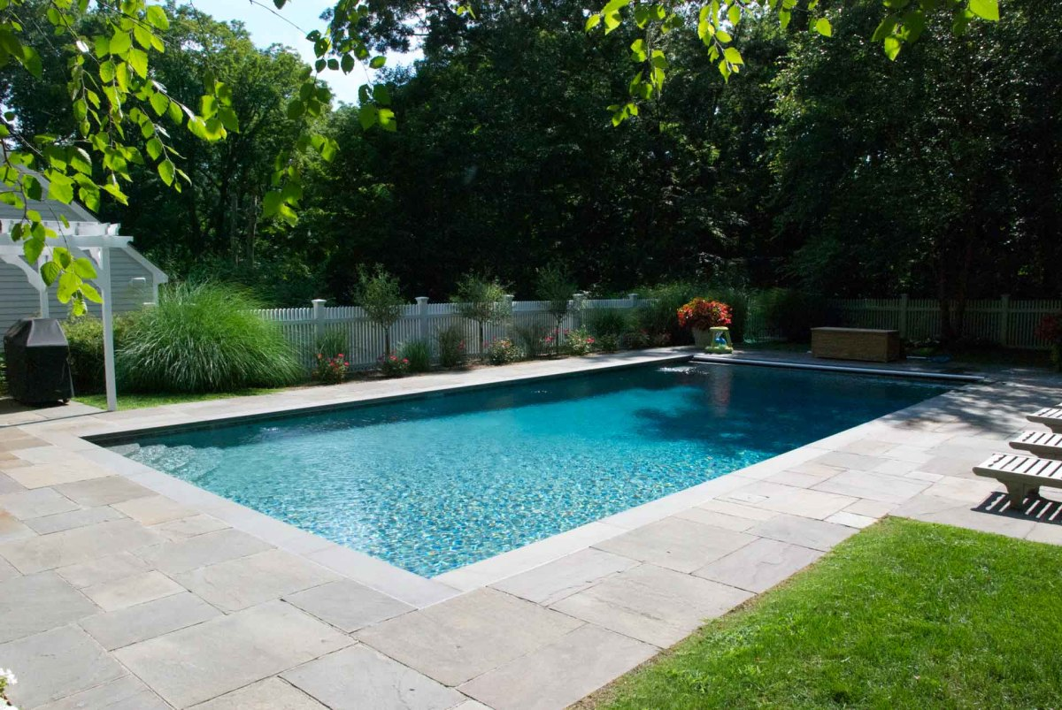 Rectangle pools cost more than curvaceous shapes.