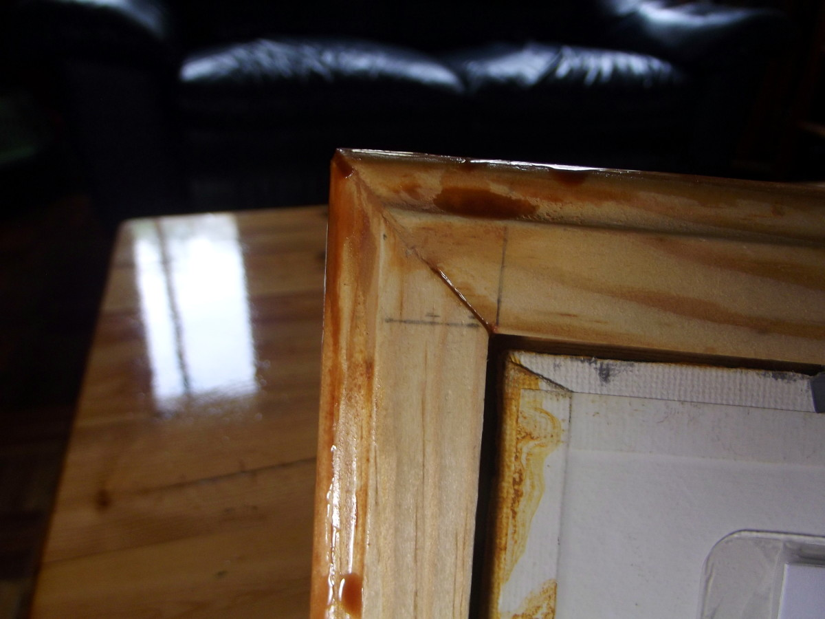 Example of wood cut using Stanley 20-800 Contractor Grade Clamping Miter Box.