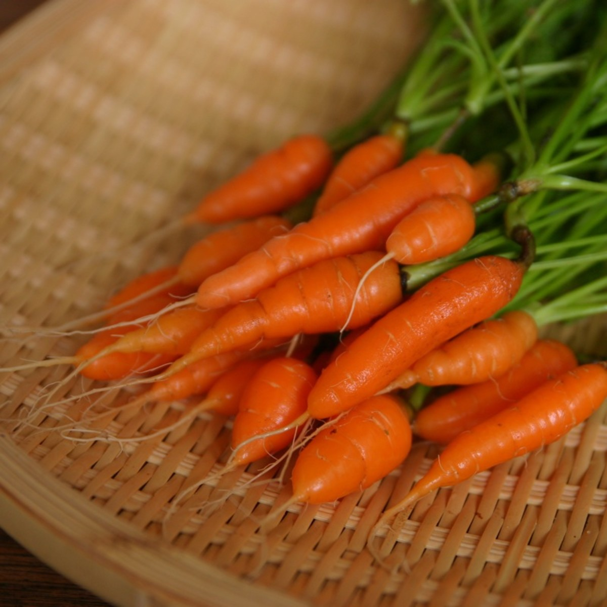 You can harvest carrots early (around 30–45 days) to snag yourself some tender baby carrots.