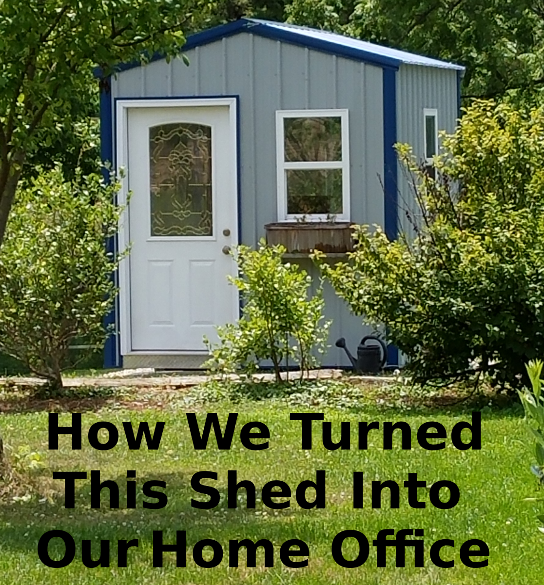How We Turned a Shed Into Our Home Office