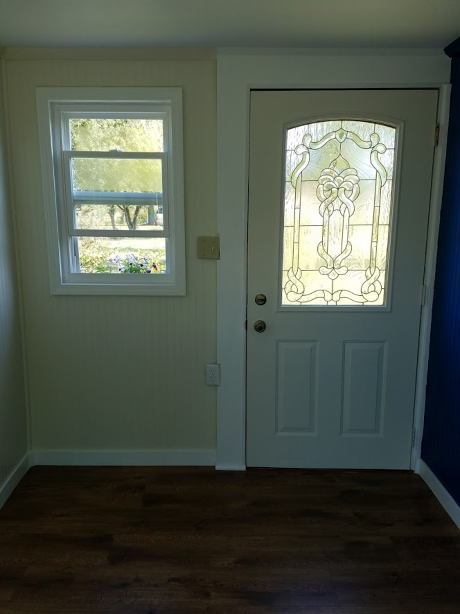 Finished view of the front door.