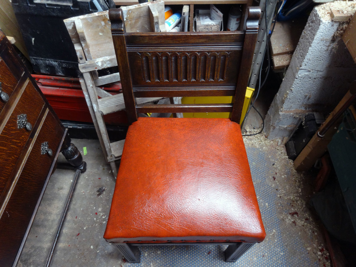Chairs completely renovated.