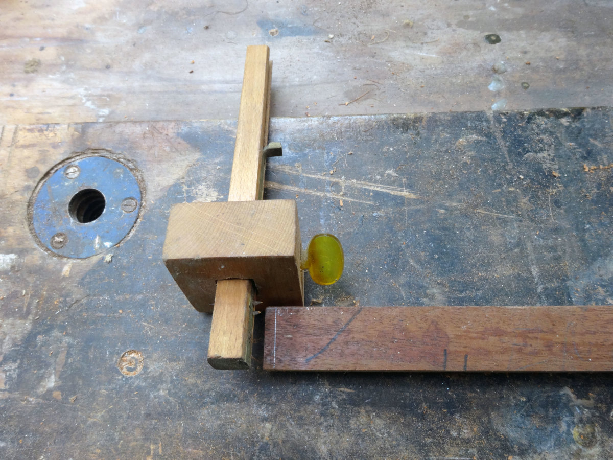 Marking out the ends with mortise and marking gauge to make the tenon joint.