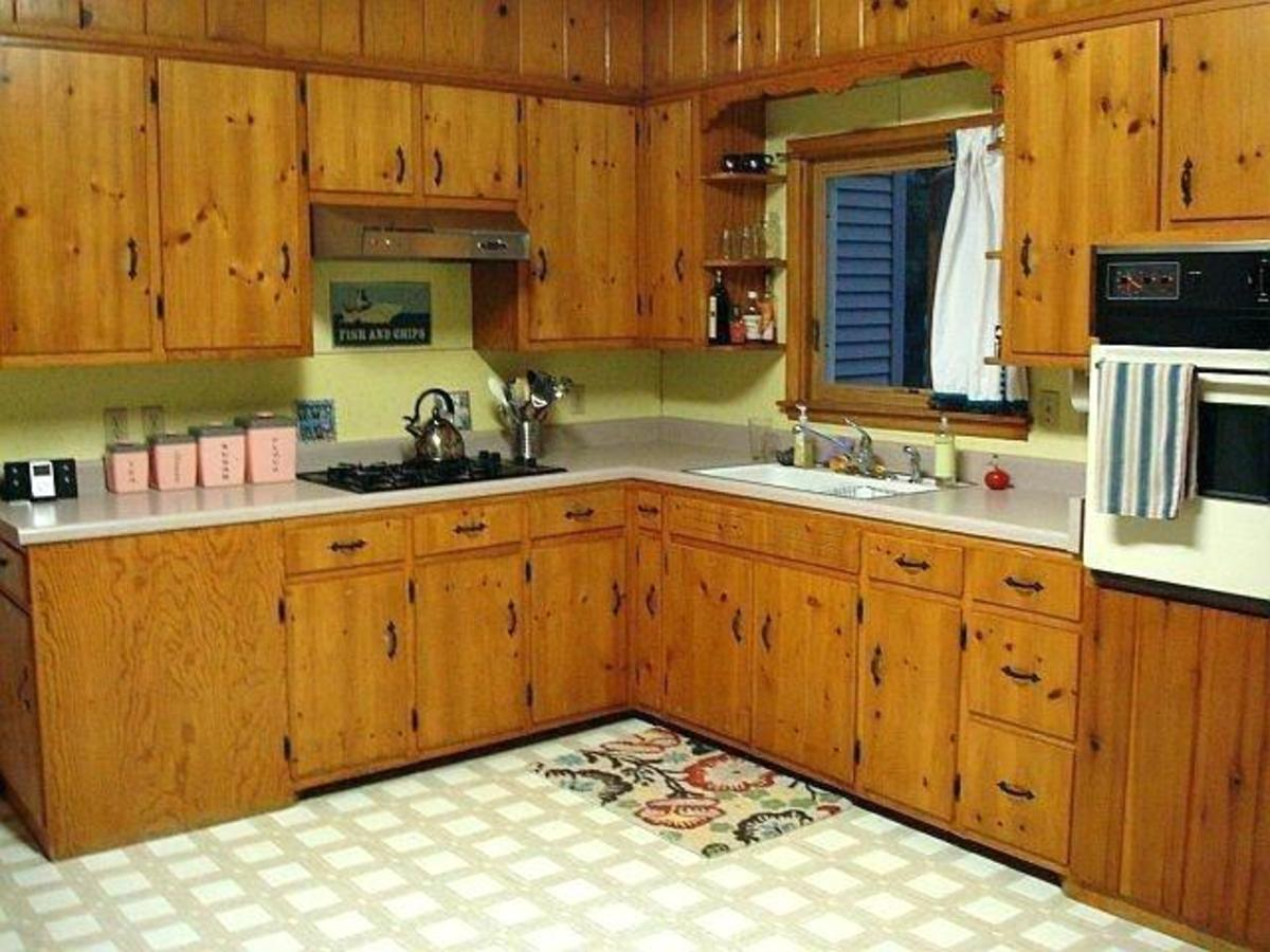 Painting Knotty Pine Cabinets White