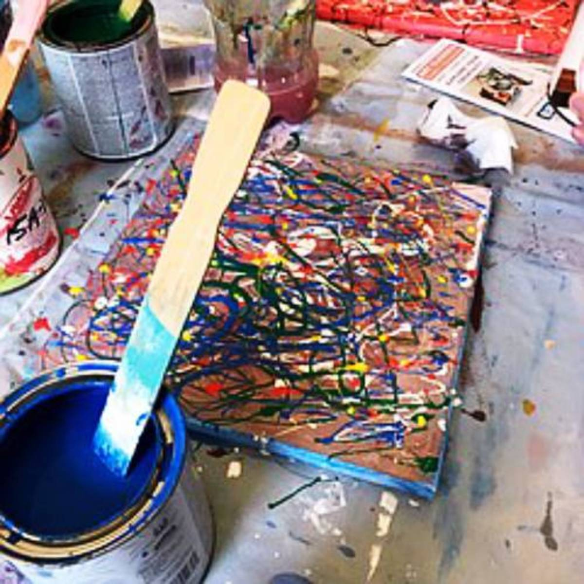 Find your Jackson Pollock inner artist!