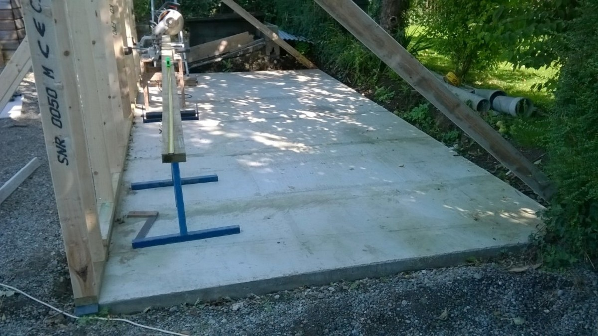 New concrete floor in place.