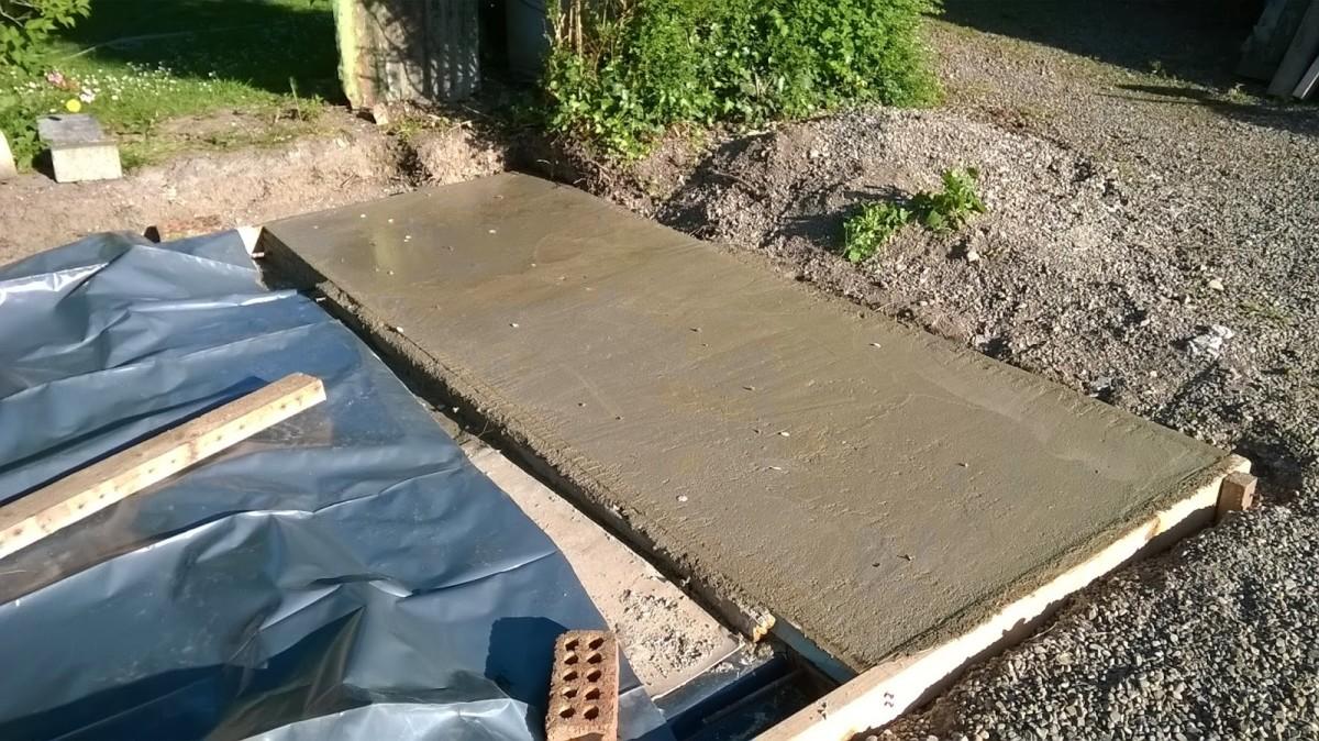 New slab of concrete.