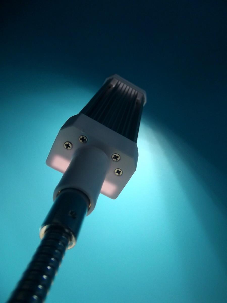 Vogek Grow Light lamp at maximum intensity.