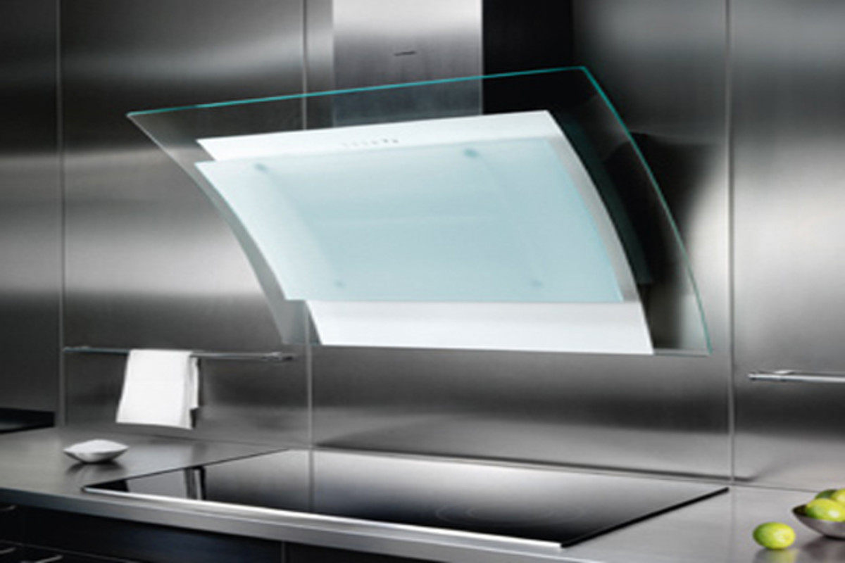 These are modern high-tech range hoods.