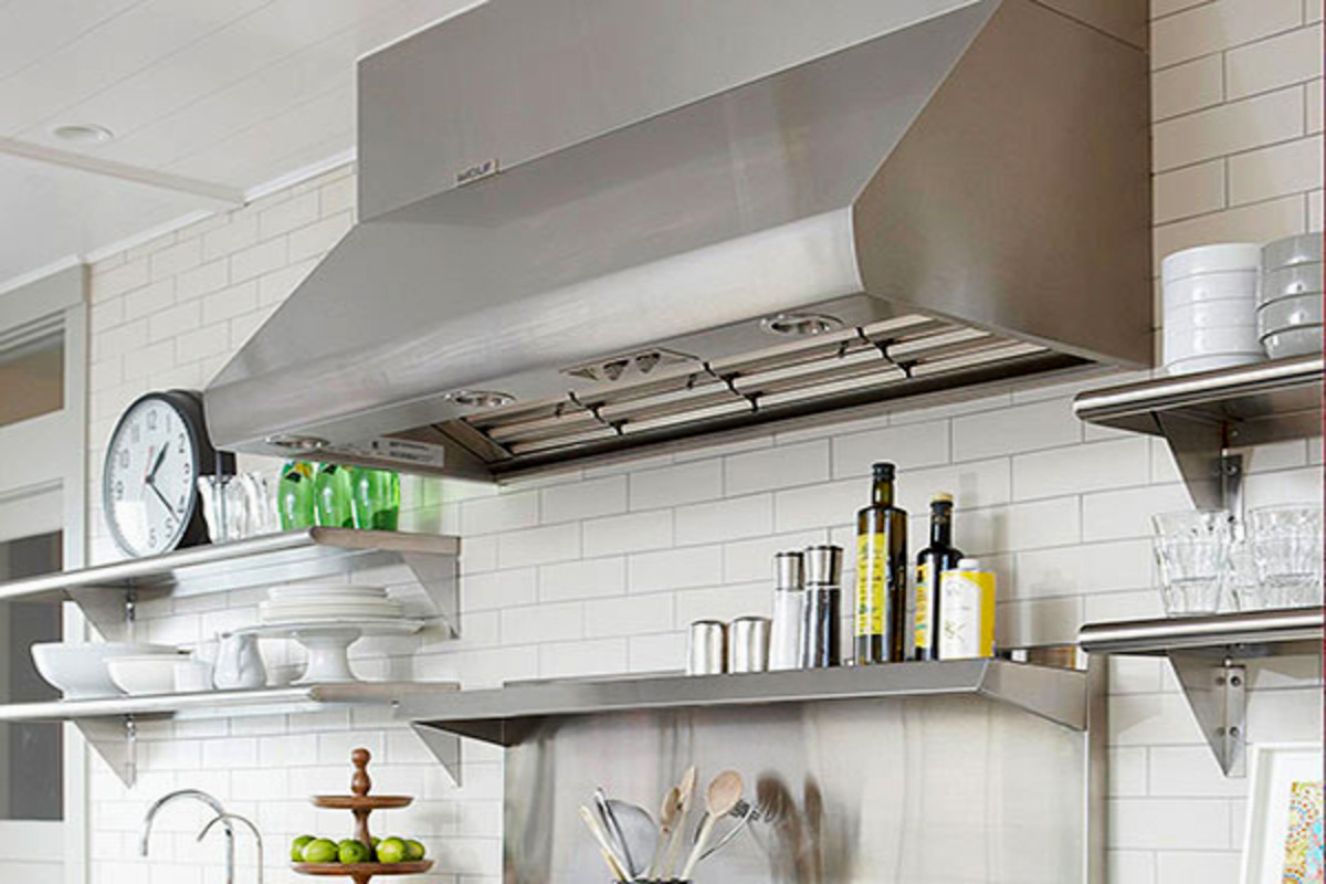 You really need a large ventilation hood for a commercial range.