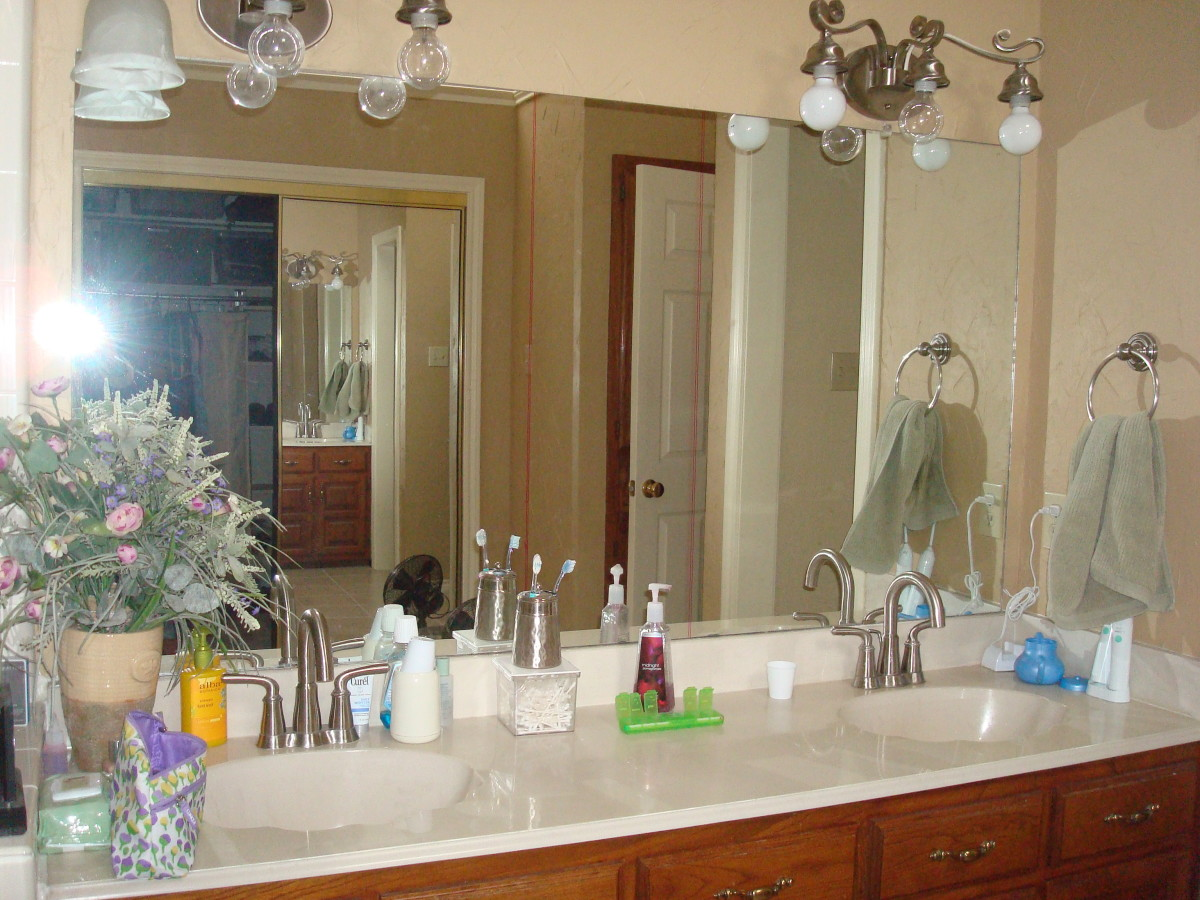 How We Remodeled Our Bathroom Vanity and Gave New Life to an Old Mirror