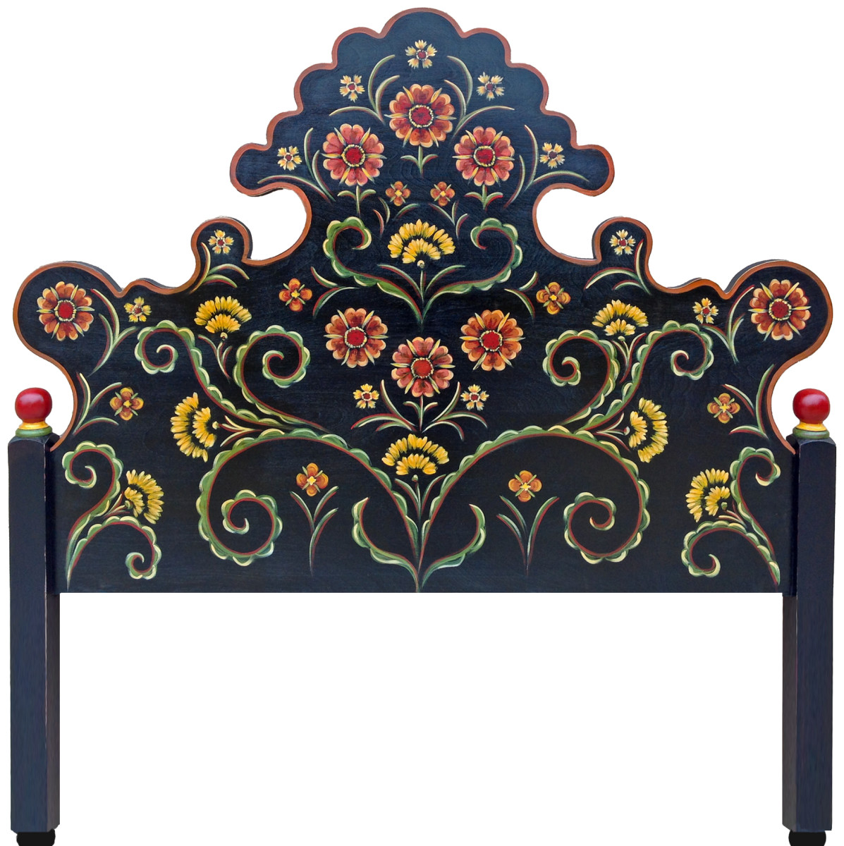 Hand-painted furniture is a piece of art.