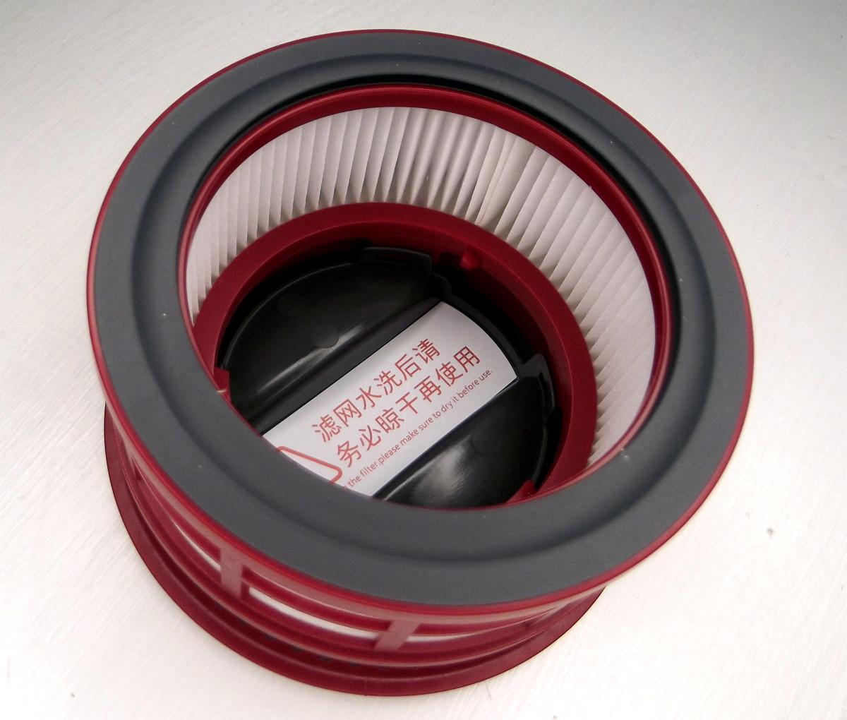 Upper HEPA filter