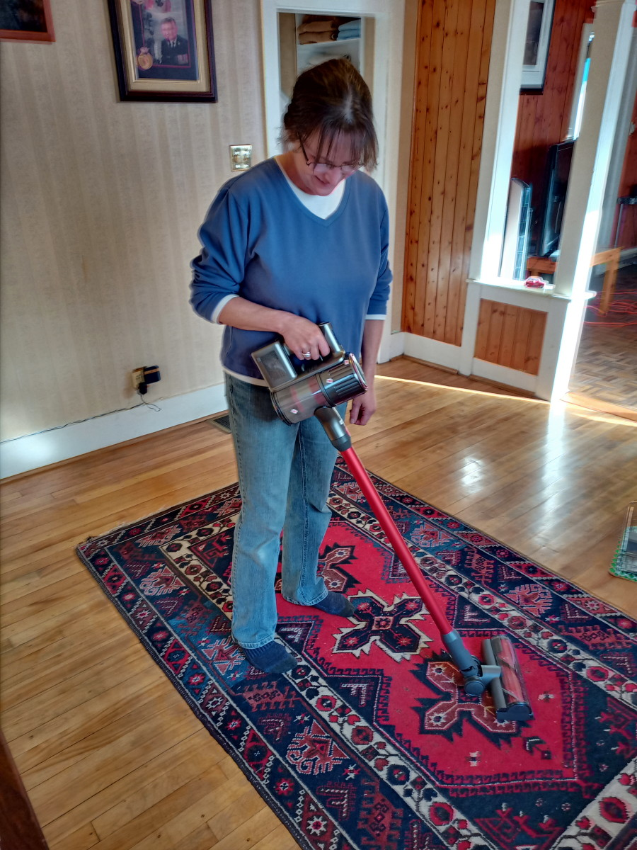 Carpet brush works effectively on carpets and hard floors