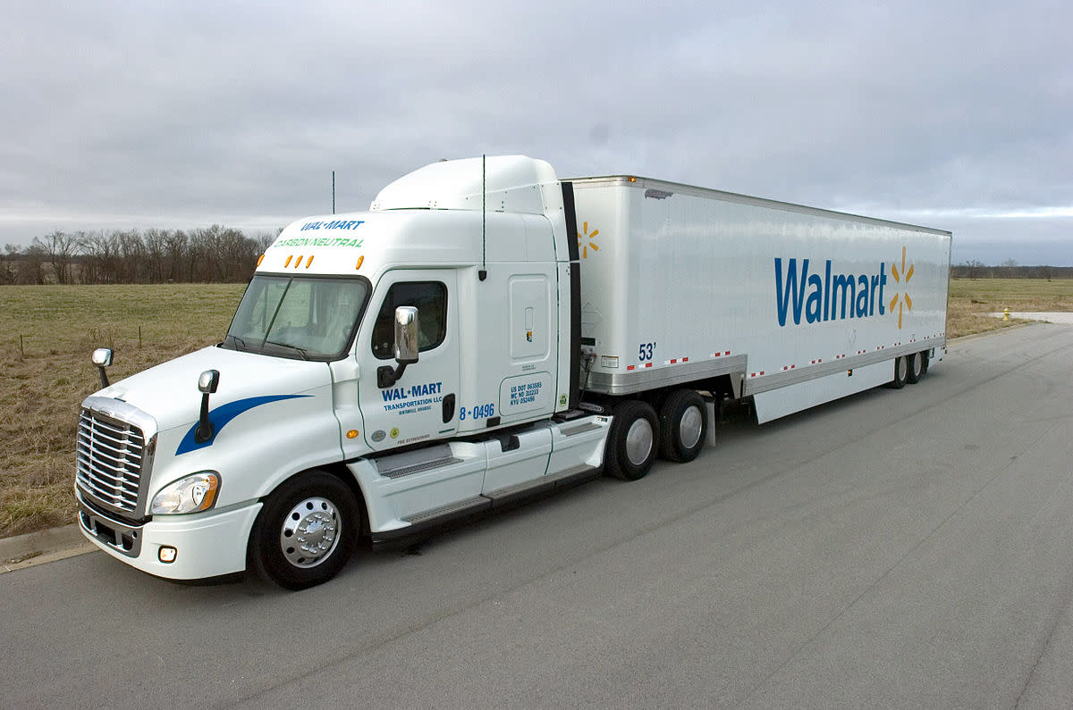Some Walmart trucks run on fuel made from recycled waste cooking grease.