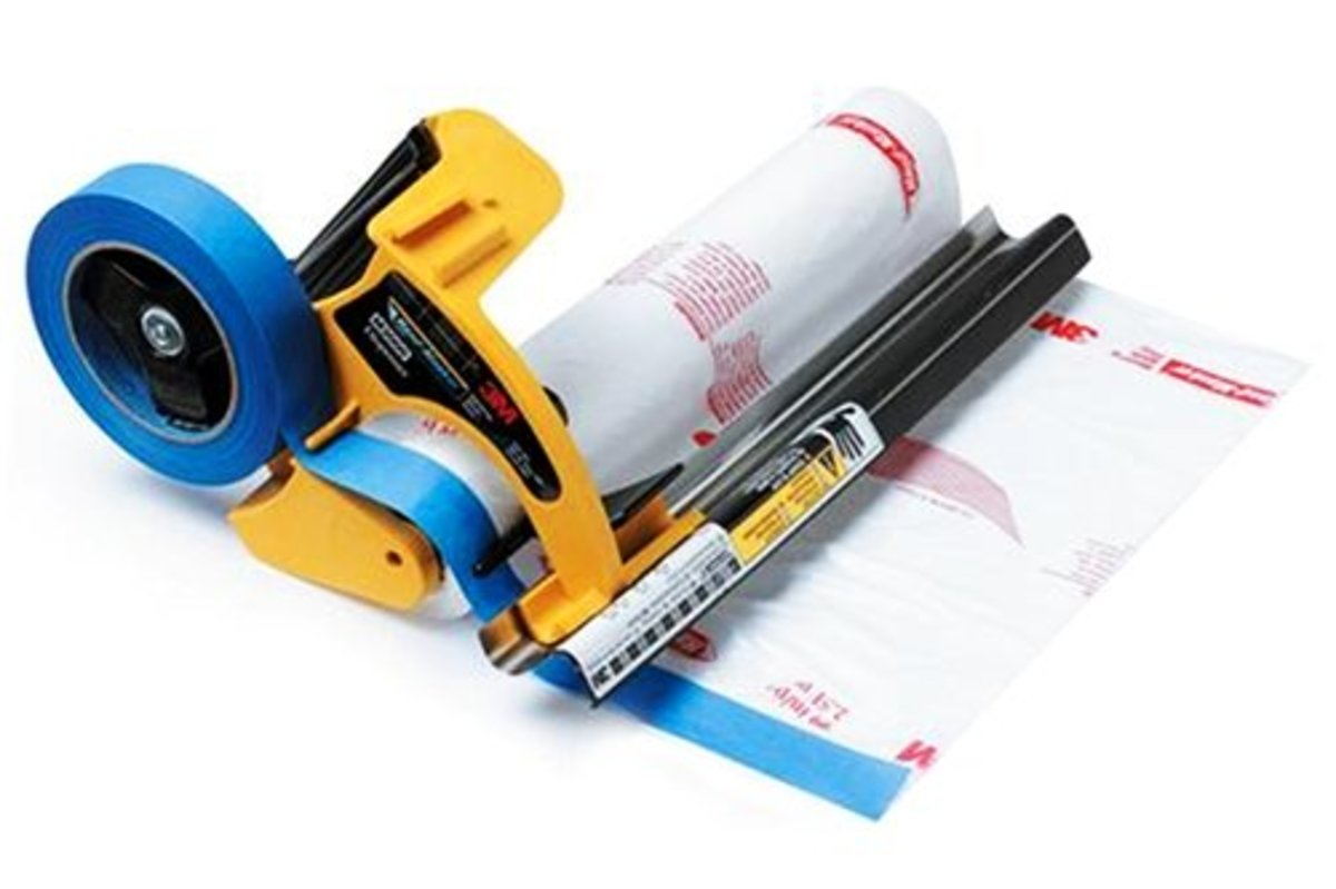 The 3M hand masker makes paint prep easier and faster.