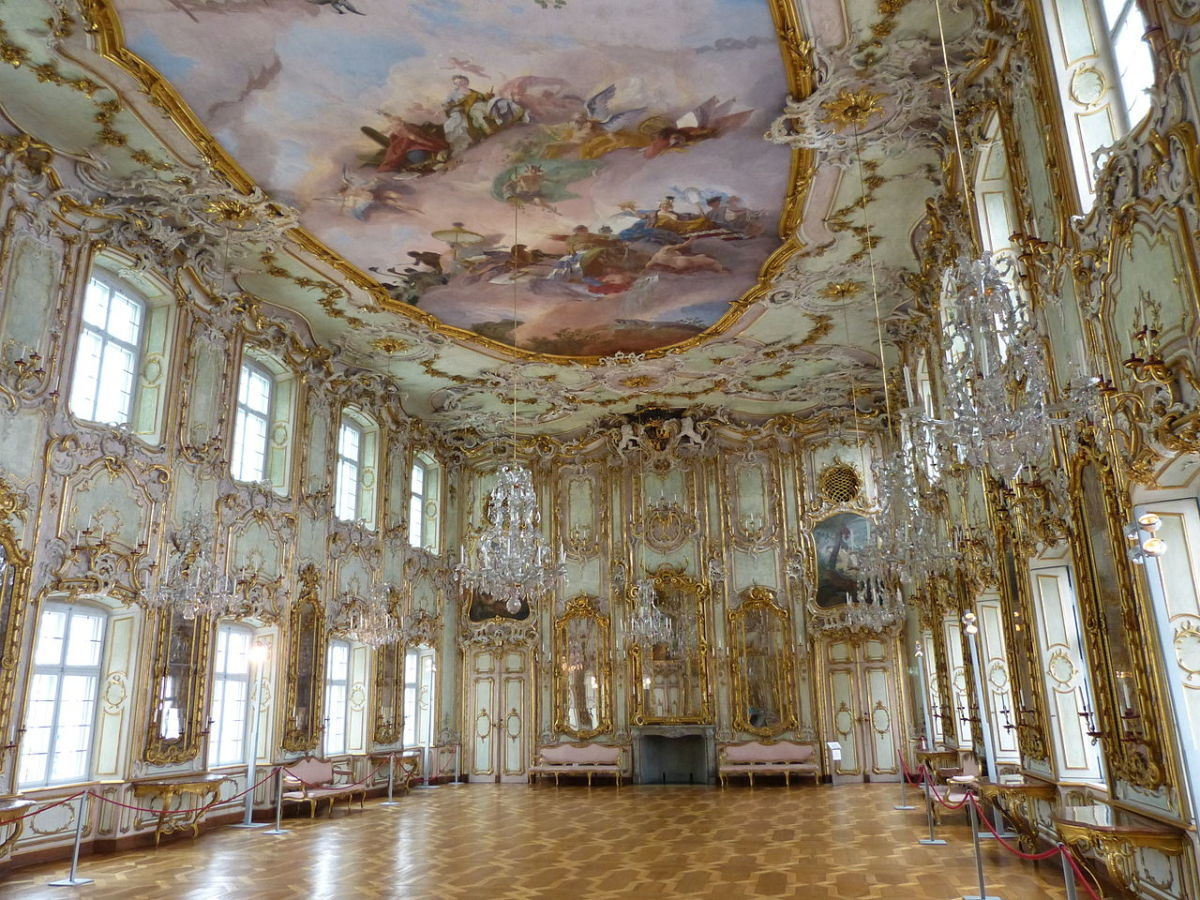 The ballroom of the Schaezlerpalace in Augsburg, Germany is regarded as one of the prime examples of the roccoco-style.
