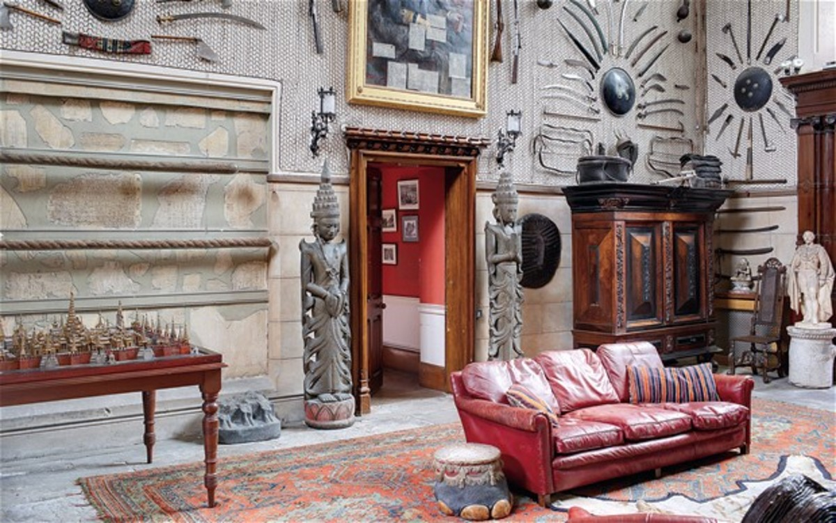 The interiors of Clandeboye, Ireland are still decorated with the treasure of Frederick Hamilton-Temple-Blackwood, one of the last Viceroys of India