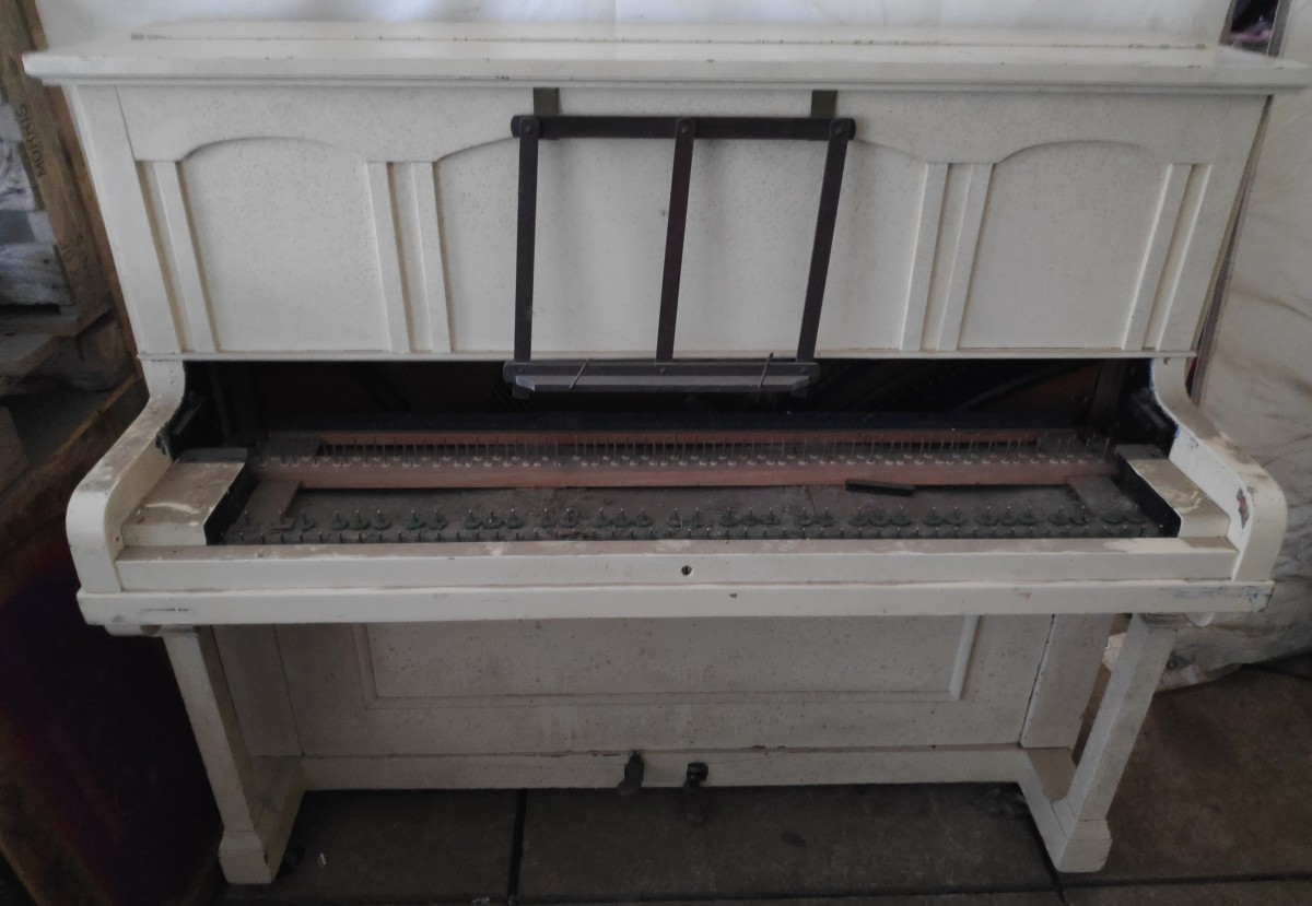 This is what the piano looked like when we first collected it.