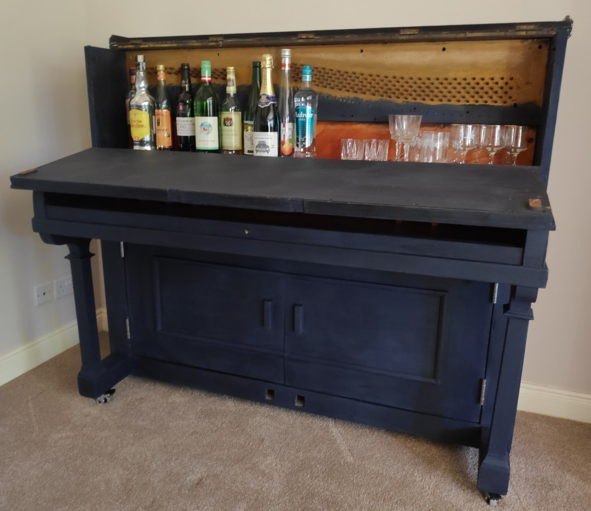 How We Turned an Old Piano Into a Drinks Cabinet