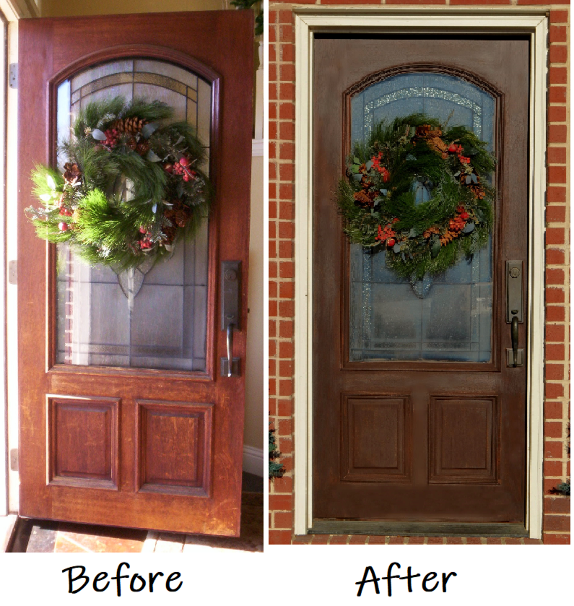 Applying a General Finishes Gel Stain on My Home's Front Door