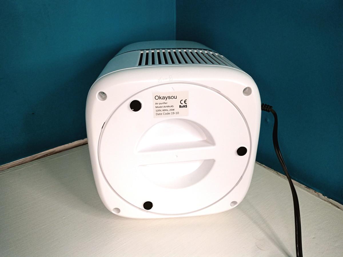Bottom view of Okaysou AirMic4S Air Purifier