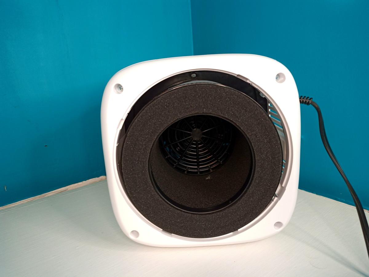 Filter fits below fan