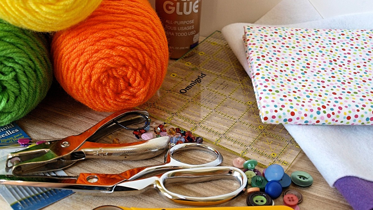 Craft supplies to keep you busy.