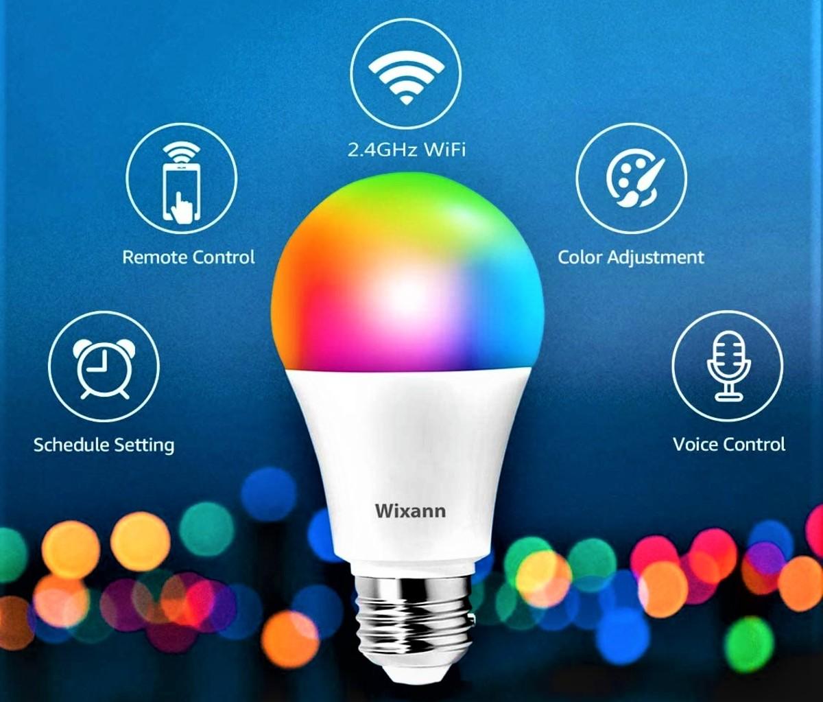 Wixann 9W LED Smart Bulb (RGB/cool white/warm white)