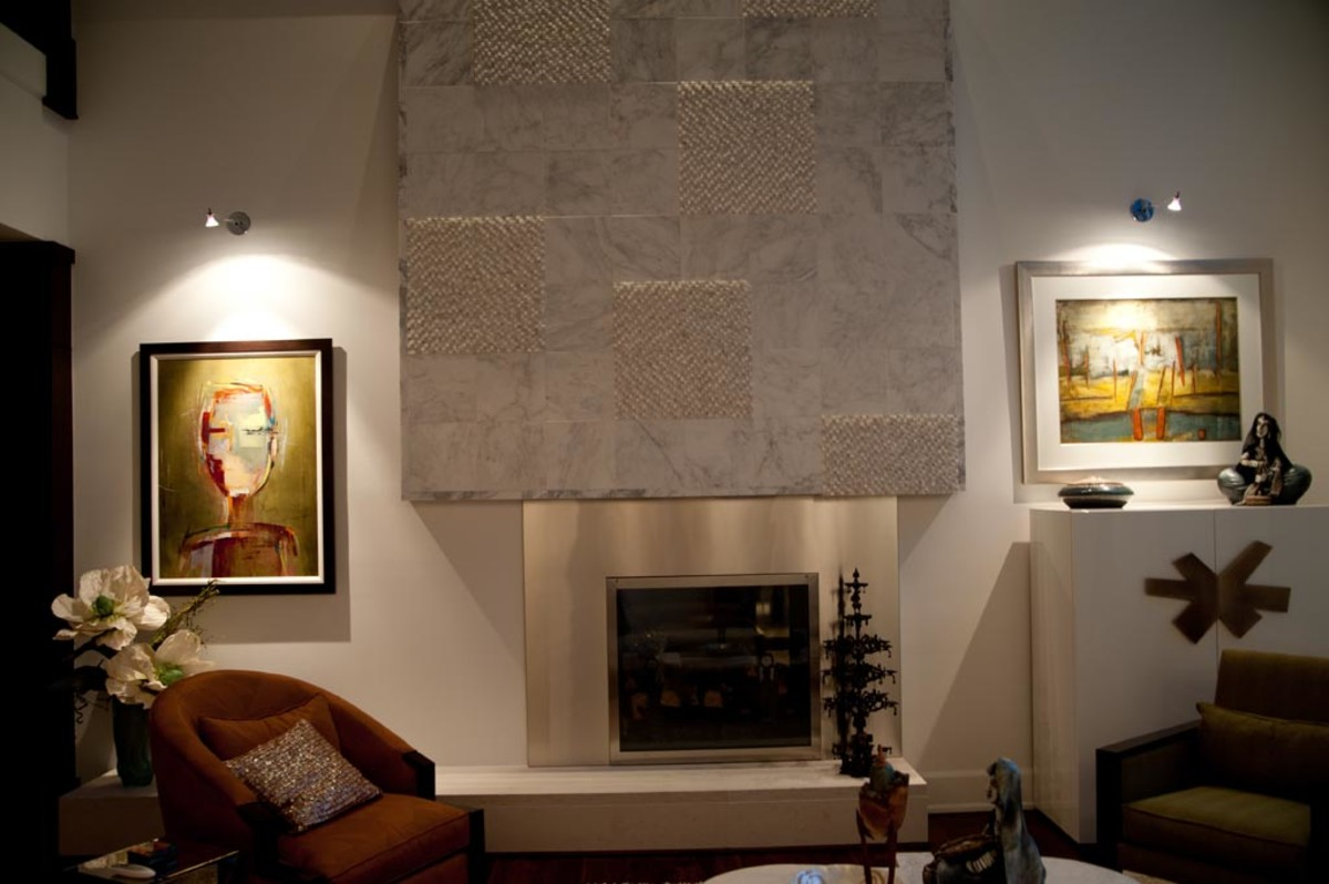 Accent lighting focuses on a particular area or object, sometimes to highlight art and artifacts.