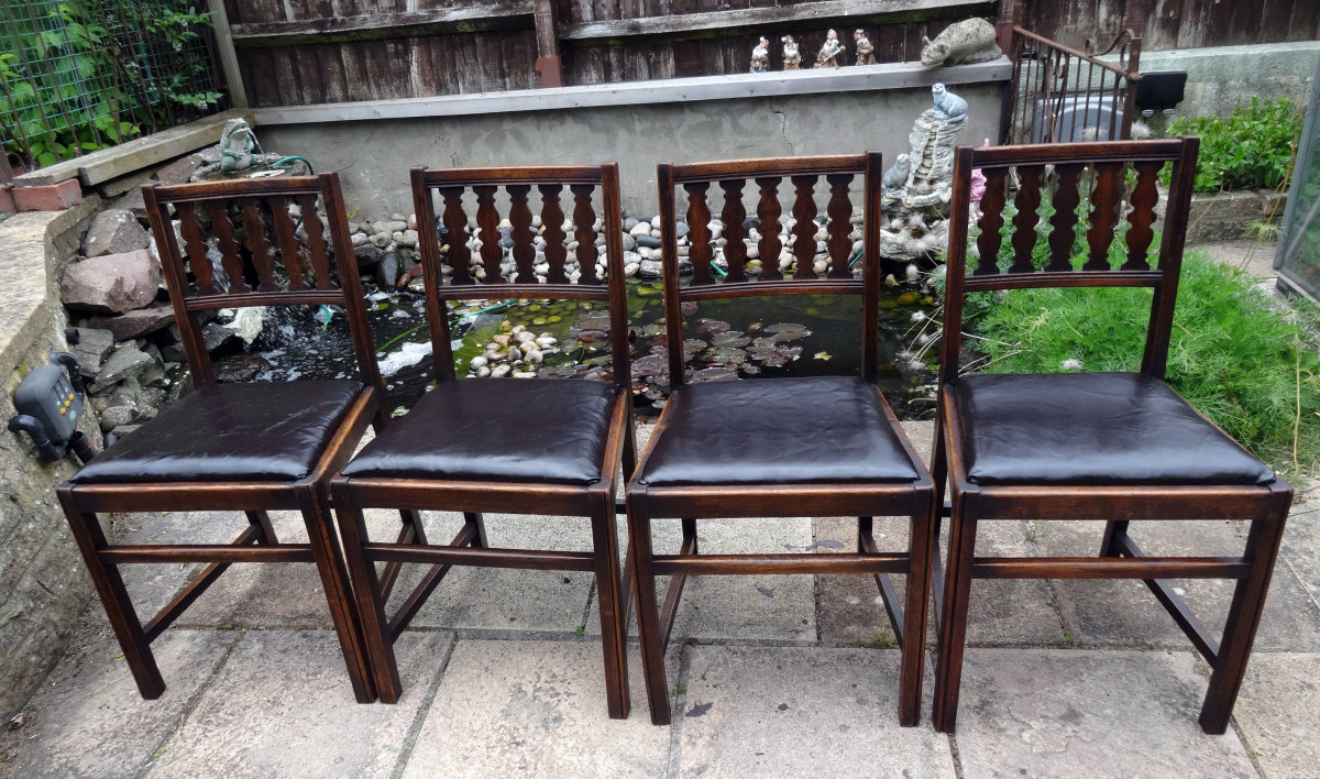Renovating and Reupholstering Solid Oak Vintage Ercol Dining Chairs