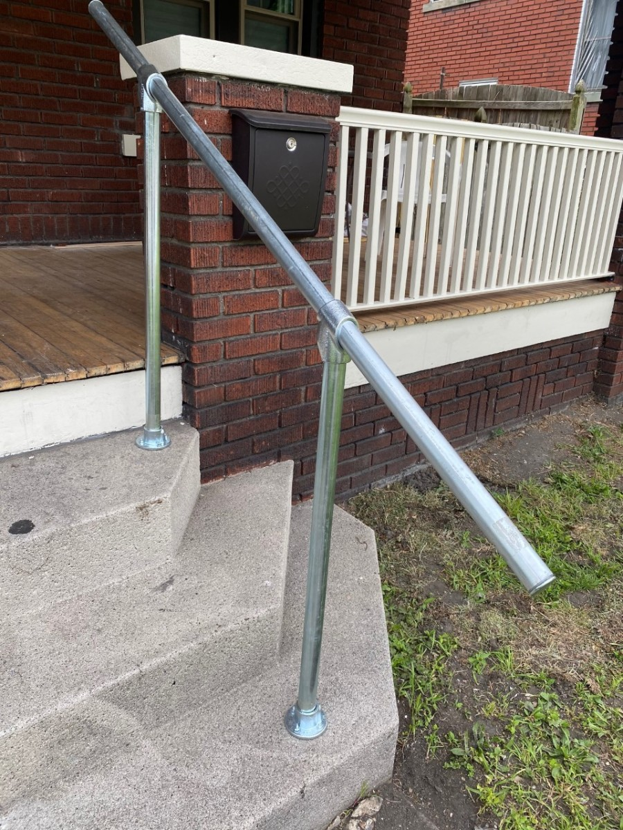 How to Build an Exterior Steel Handrail and Save a Bundle