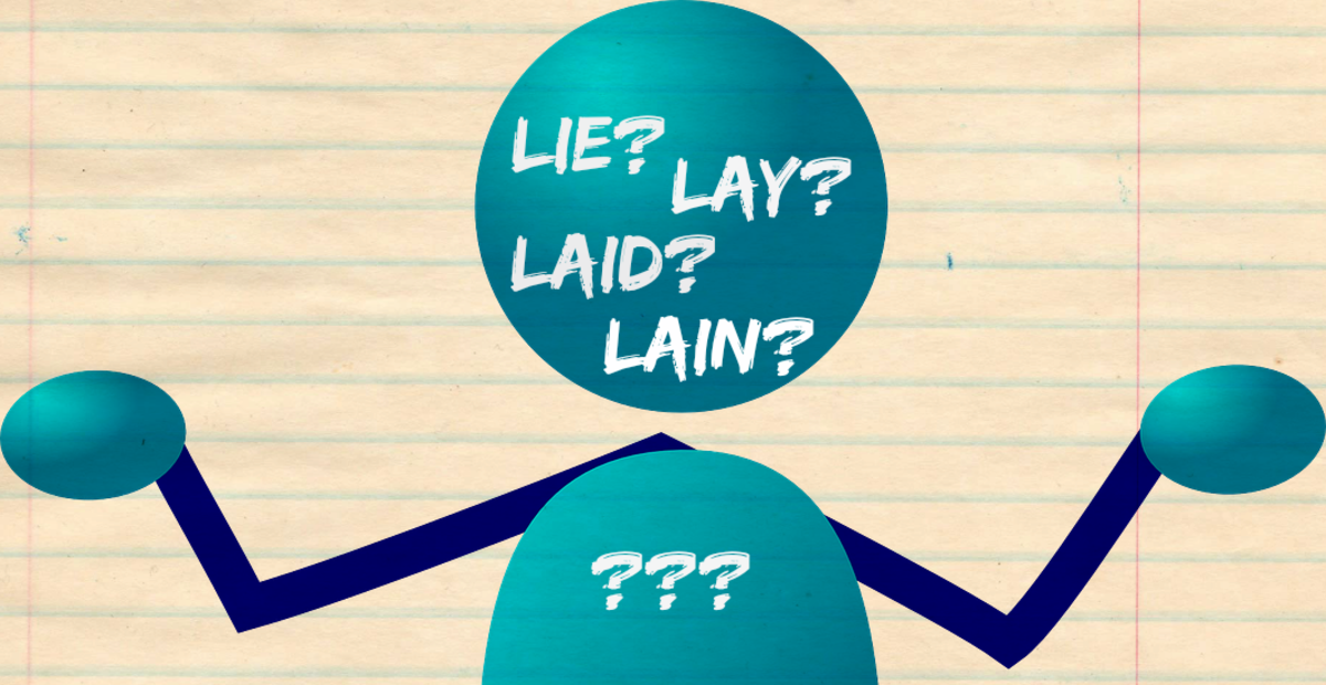 Lie, Lay, and Laid: The Naughty Grammarian Explains