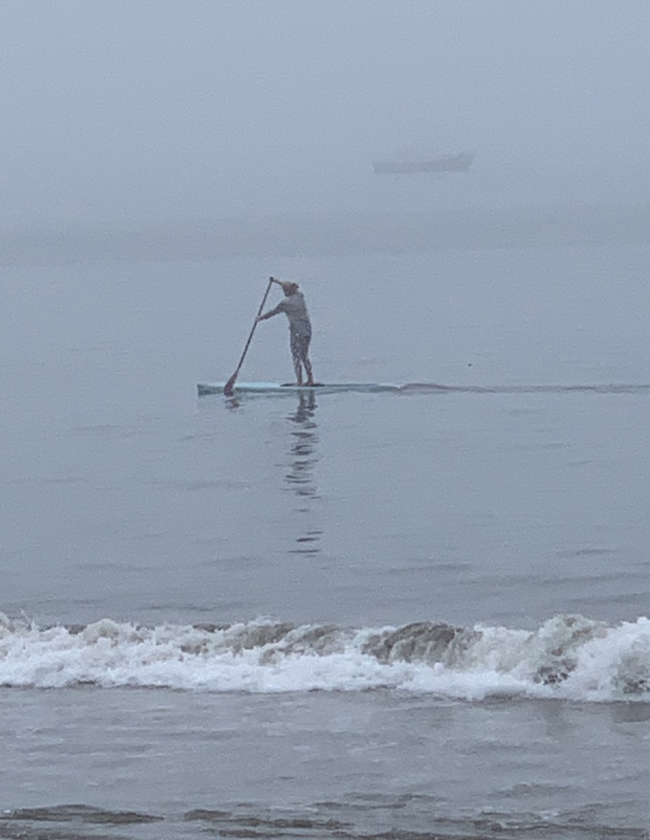 Paddling in the Pacific