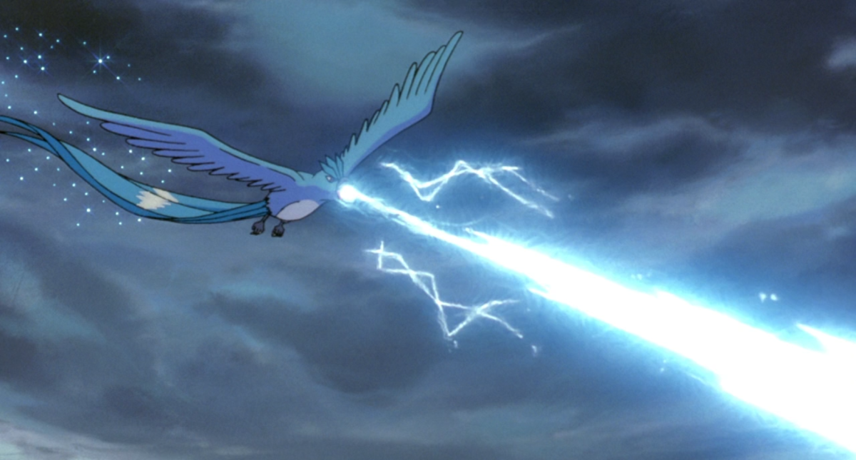 Articuno using Ice Beam