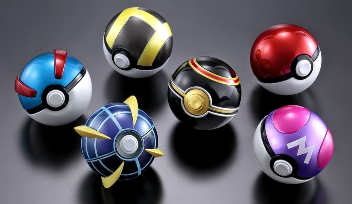 Different Poke Ball types