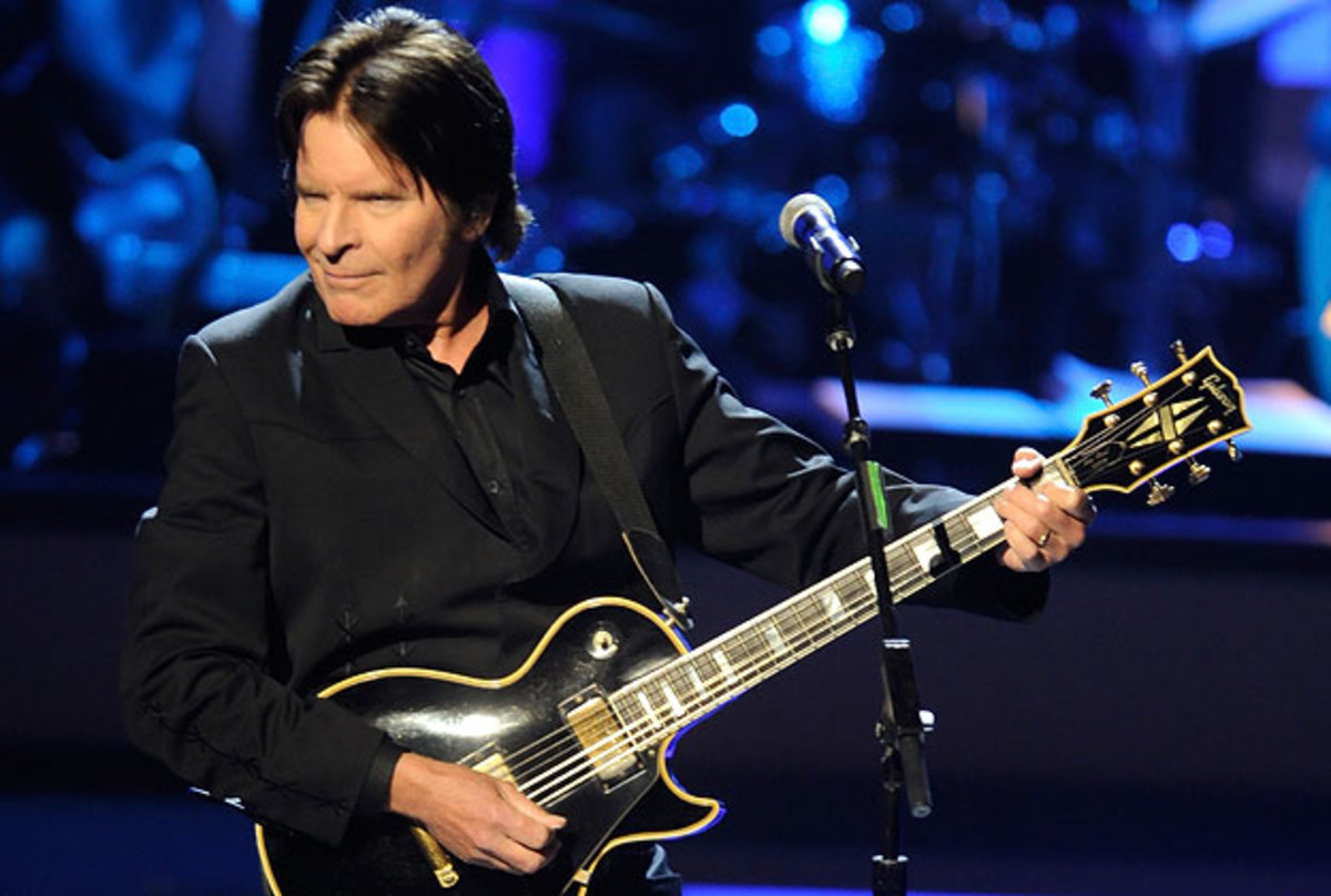 John Fogerty in recent years, on stage with his 1968 Les Paul Custom.