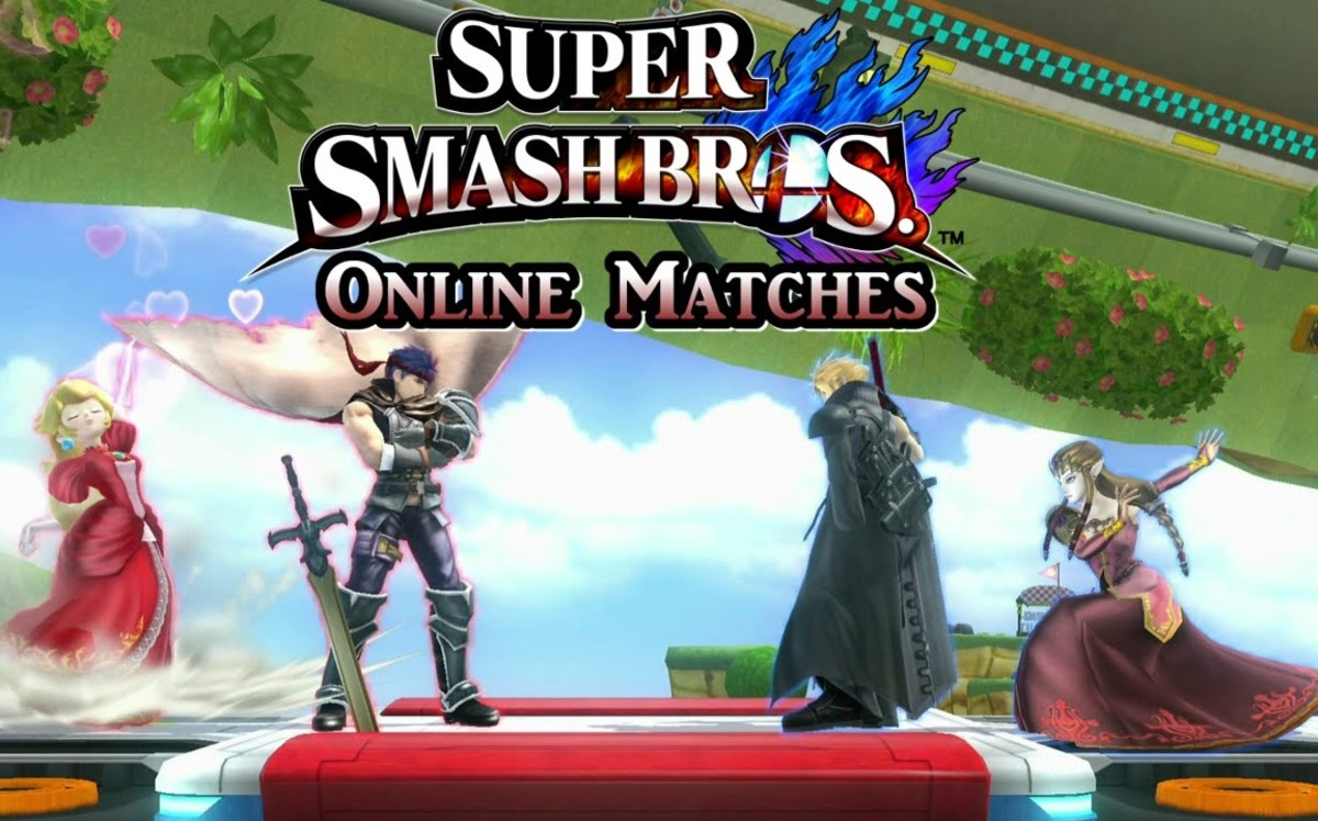 An online team match in SSB4