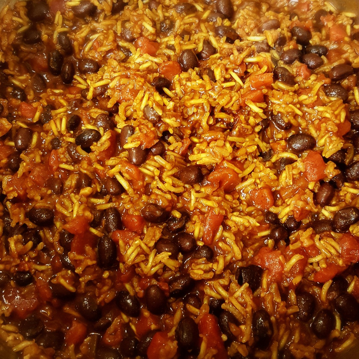 Vegetarian black beans and rice