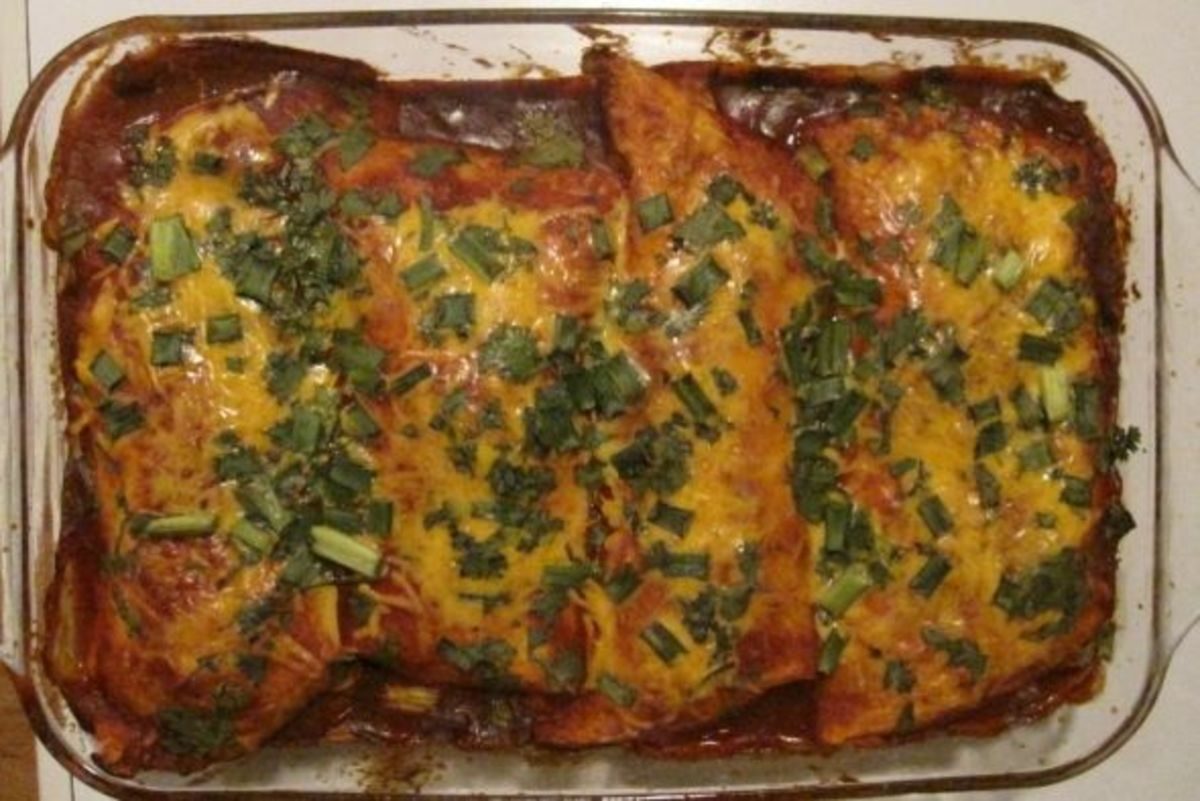 Delicious oven-baked wet burritos