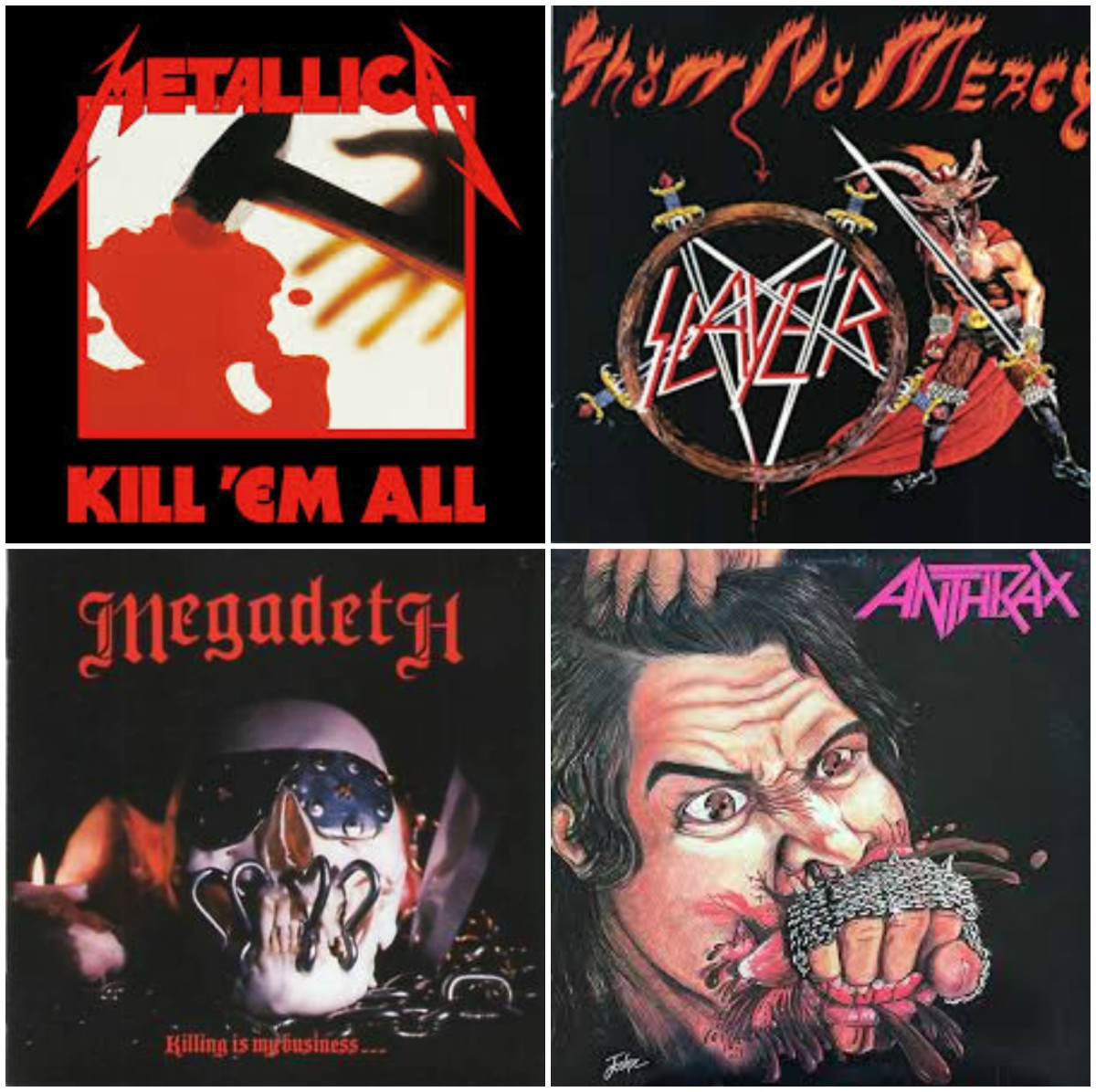 Ranking the Debut Albums of Thrash Metal's