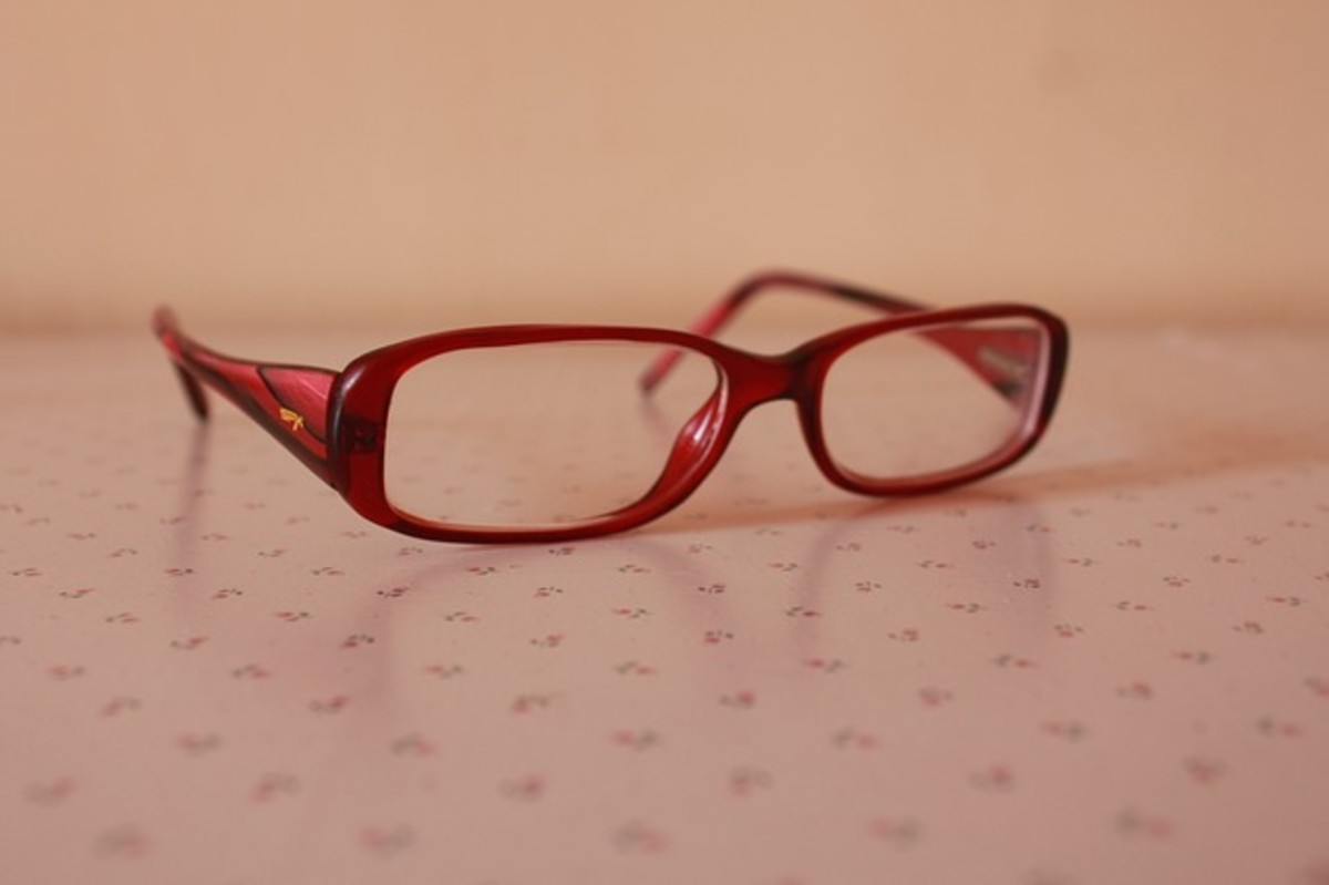 Scratched eyeglasses are hard to use for reading.
