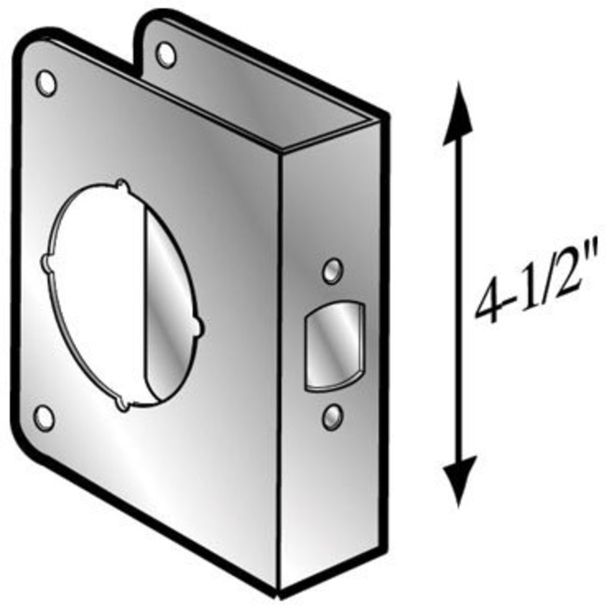 "Mag Engineering ""Intall a Lock"" Wrap-around Door Reinforcer for Wood Doors"
