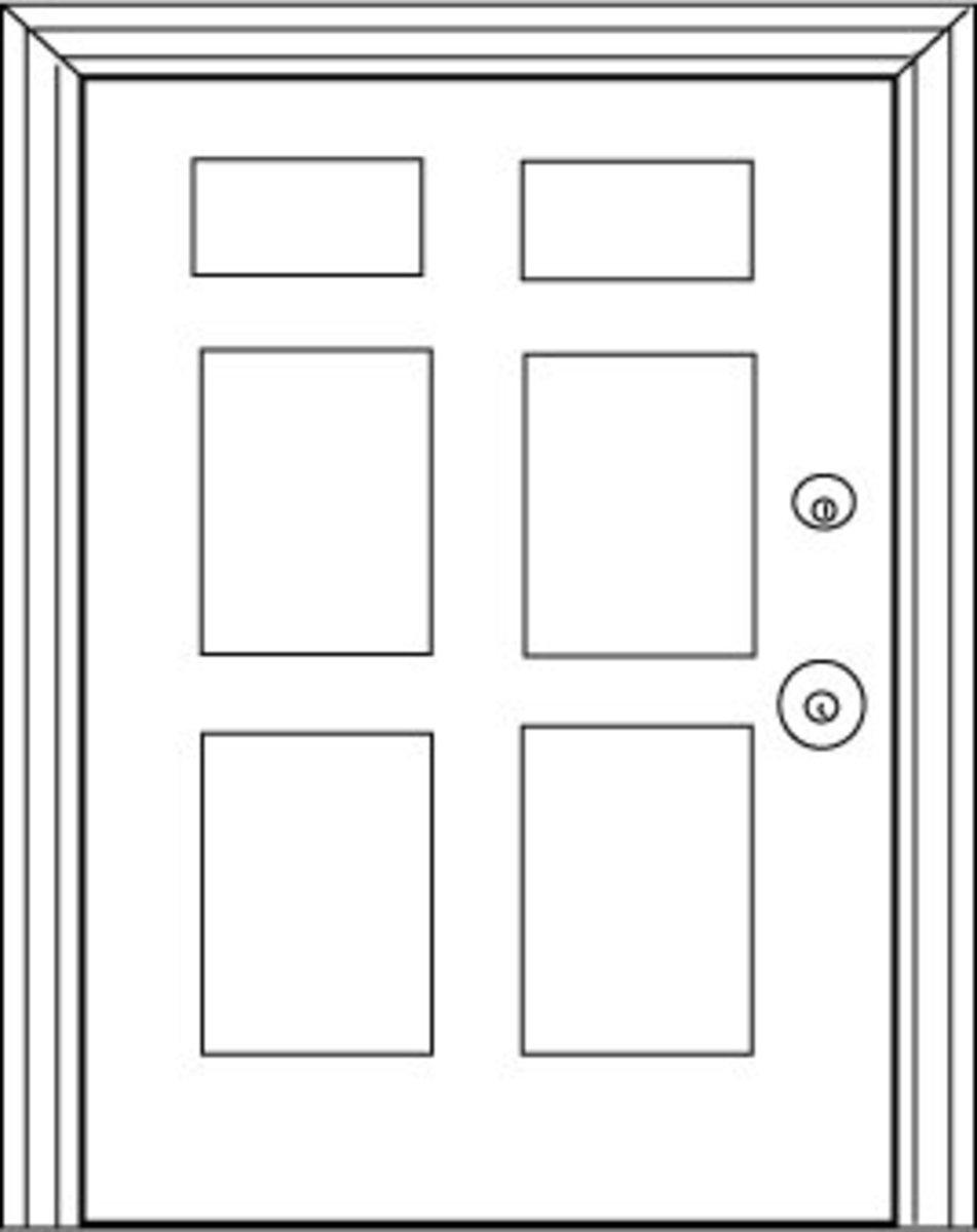 Six-panel door