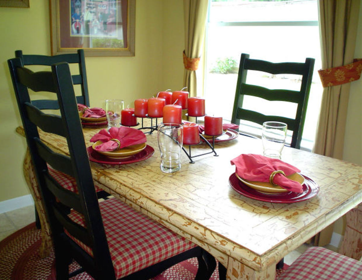 Plan an inviting dining area in your vacation home ready for a cozy dinner or a fun game of Scrabble.