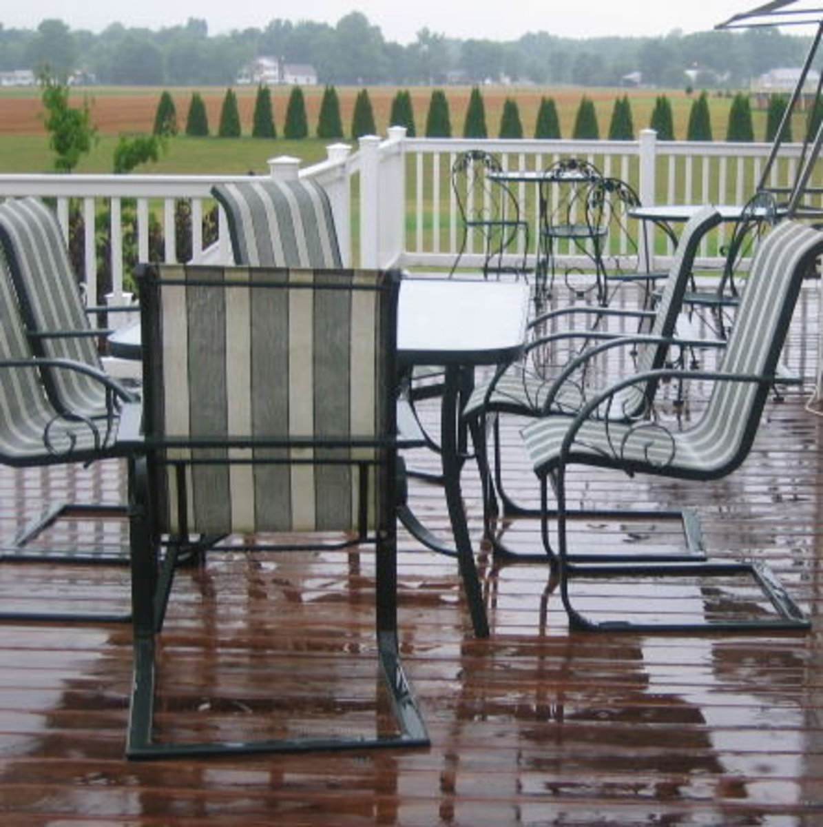 With a view like this, you'll want some outdoor seating at your vacation home.