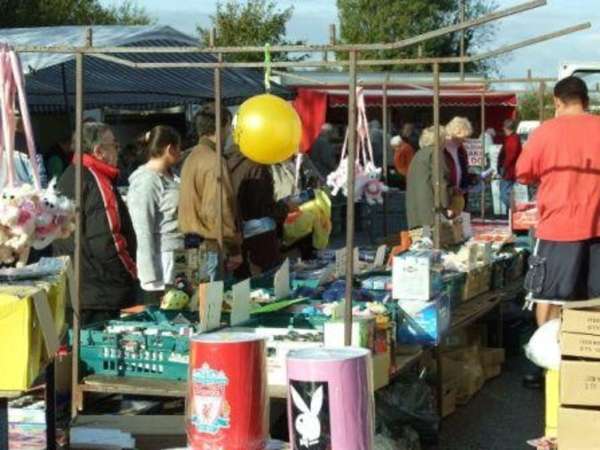Shop second hand stores and flea markets.